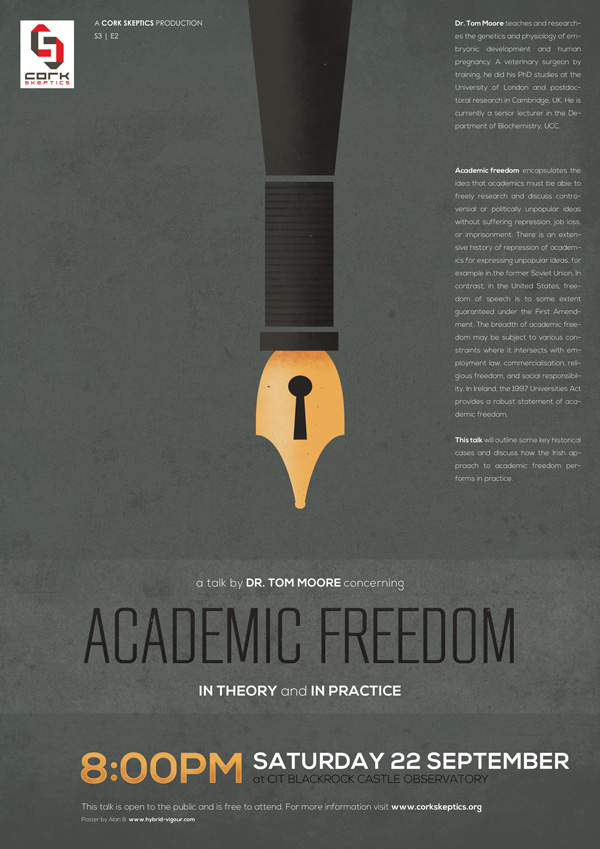 Academic Freedom, In theory and In Practice: A Talk by Dr. Tom Moore
